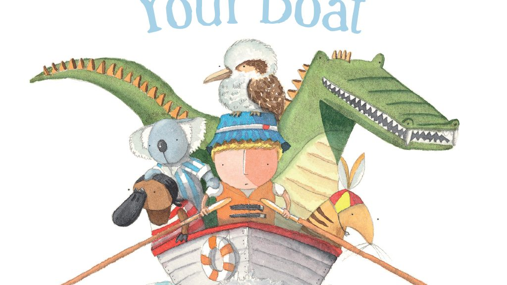 The cover for the picture book, Row Row Row Your Boat by Matt Shanks